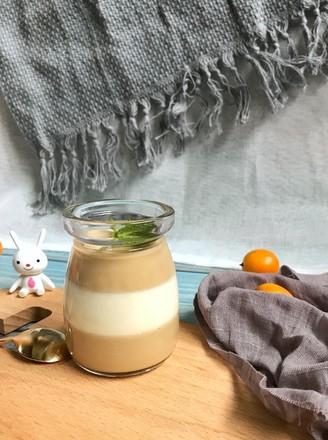 双色咖啡奶冻的做法