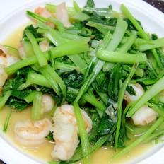 虾仁炒油菜