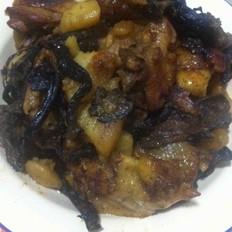 东北菜小鸡炖蘑菇土豆