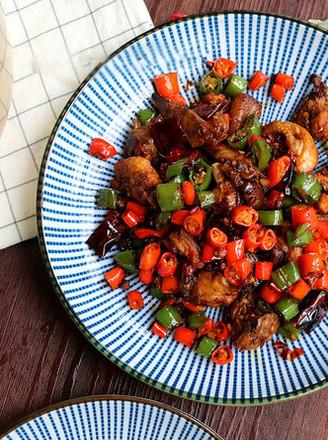 鲜椒辣子鸡,小美的美食的做法