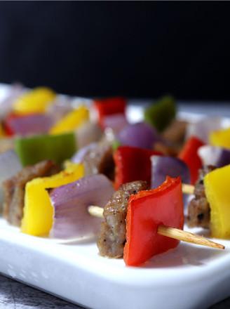 黑胡椒杂蔬牛肉串的做法