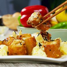 自制菠萝油条虾