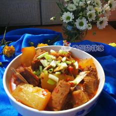 羊排炖萝卜