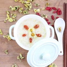 """食美粥-花粥系列 """"菊花粥""""菊花小米粥 清肝火、降压作用 营养早餐"""