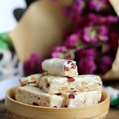 花生蔓越莓牛轧糖(面包机版)