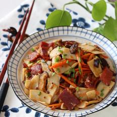 金华火腿炒双菇