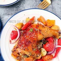 皮酥肉嫩,脆香多汁的法式烤鸡腿