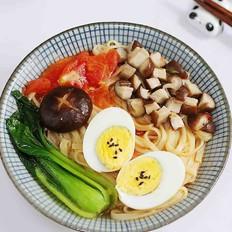 番茄蘑菇汤面