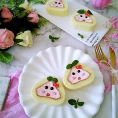 粉粉卡通蛋糕卷