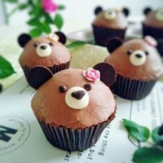 萌熊巧克力纸杯蛋糕
