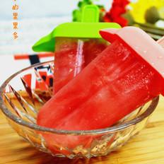 西瓜蜂蜜冰棍的做法大全