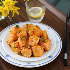 咸蛋黄焗三文鱼