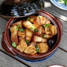 豆腐果炖五花肉