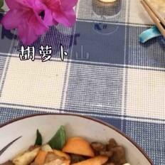 胡萝卜山药肉片