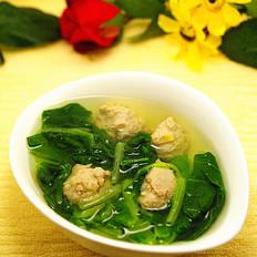 小白菜氽丸子