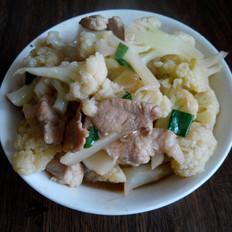 菜花炒肉片