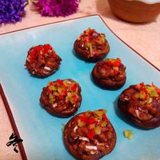烤肉末香菇
