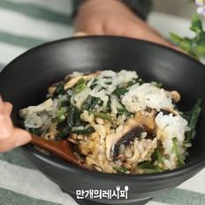 马蹄菜蘑菇饭