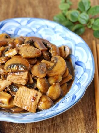 蘑菇炒肉片的做法