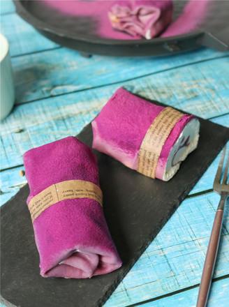 紫薯毛巾卷的做法