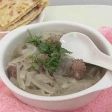羊肉丸子萝卜汤