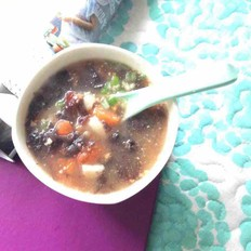 西红柿年糕汤