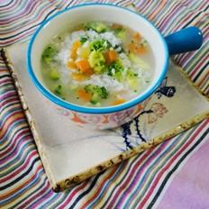 西兰花胡萝卜粥