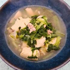 小白菜冻豆腐