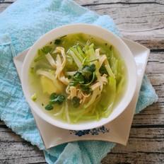 青萝卜豆皮汤