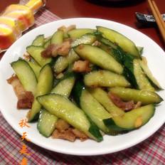 叉烧肉炒青瓜