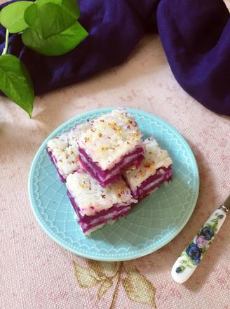 糯米紫薯糕的做法