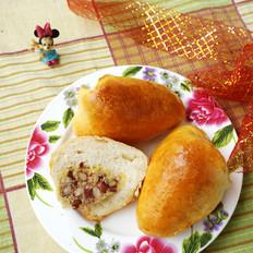 火腿小米粽子面包