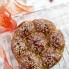 青翠茼蒿面包#美的电烤箱#