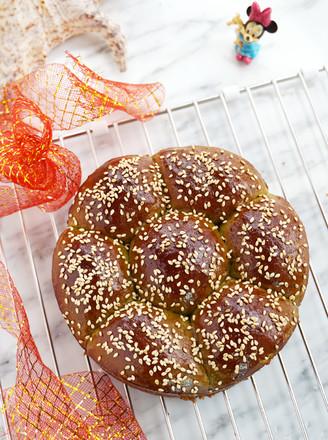 青翠茼蒿面包#美的电烤箱#的做法