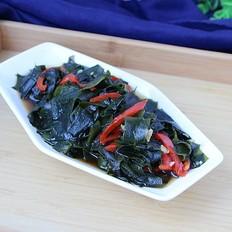 红椒拌裙带菜