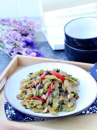 豆豉炒苦瓜的做法