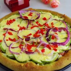 菠菜泥西葫芦培根披萨