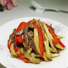 肉丝炒杏鲍菇条