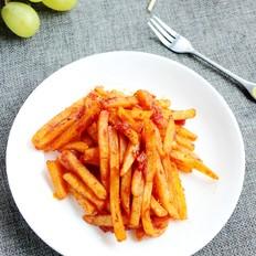罗勒番茄酱薯条