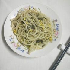 雪菜炒黄豆芽