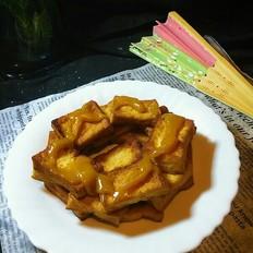 南瓜酱配老豆腐