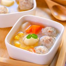 山药玉米肉丸汤  宝宝辅食食谱