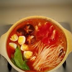 红酸汤龙利鱼火锅