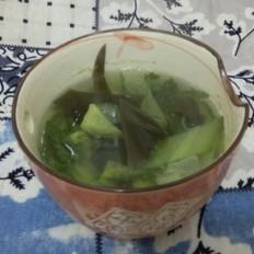 黄瓜海带汤晚餐