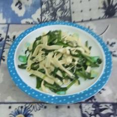 韭菜炒干豆腐