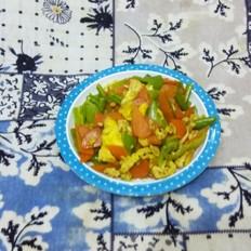 鸡蛋胡萝卜尖椒