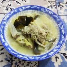 脊骨白菜海带汤