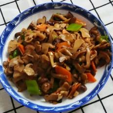 尖椒炒口蘑