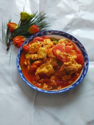 杭椒炒西红柿鸡蛋的做法