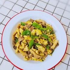 青椒平菇炒鸡蛋